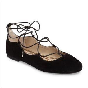 Sam Edelman Black Suede Flynt Ballet Flats | 9.5